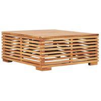 vidaXL Sodo stalas, 69,5x69,5x31cm, tikmedžio medienos masyvas