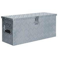 vidaXL Aliuminio dėžė, 76,5x26,5x33cm, sidabrinė