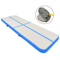 vidaXL Pripučiamas gimnastikos kilimėlis, mėlynas, 300x100x15cm, PVC
