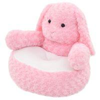 vidaXL Minkštas žaislas triušis, rožinis, pliušinis