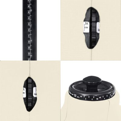 vidaXL Reguliuojamas manekenas, kreminis, vyriškas, 37-45 dydžio
