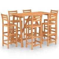 vidaXL Lauko baro baldų komplektas, 7 dalių, akacijos medienos masyvas