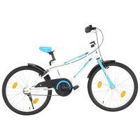 vidaXL Vaikiškas dviratis, mėlynos ir baltos spalvos, 20 colių