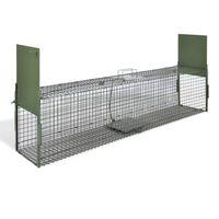 vidaXL Spąstai gyvūnams su 2 durimis, 150 x 30 x 30 cm