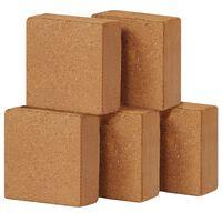 vidaXL Kokoso pluošto blokai, 5vnt., 5kg, 30x30x10cm