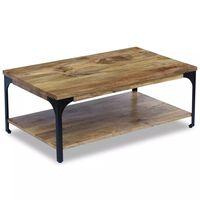 vidaXL Kavos staliukas, mango mediena, 100x60x38 cm