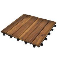 20 Medinių Plytelių iš Akacijos, 30 x 30 cm, Vertikalus Raštas