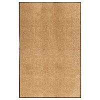 vidaXL Durų kilimėlis, kreminės spalvos, 120x180cm, plaunamas