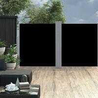 vidaXL Ištraukiama šoninė pertvara, juodos spalvos, 160x600cm
