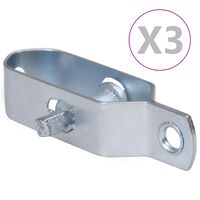 vidaXL Tvoros vielos įtempikliai, 3vnt., sidabrinis, plienas, 90mm