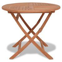 vidaXL Sulankstomas sodo stalas, 85x76cm, tikmedžio medienos masyvas
