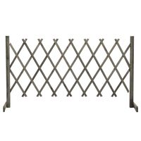 vidaXL Sodo treliažas-tvora, pilkos spalvos, 150x80cm, eglės masyvas