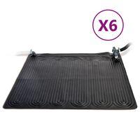 Intex Saulės energija šildomi kilimėliai, 6vnt., juodi, 1,2x1,2m, PVC