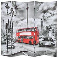 vidaXL Kambario pertvara, 200x170 cm, Londono autob., juoda ir balta