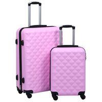 vidaXL Lagaminų rinkinys, 2vnt., rožinės spalvos, ABS, kieto korpuso