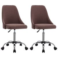 vidaXL Rolling Office Chairs 2 pcs Taupe Fabric (323235)