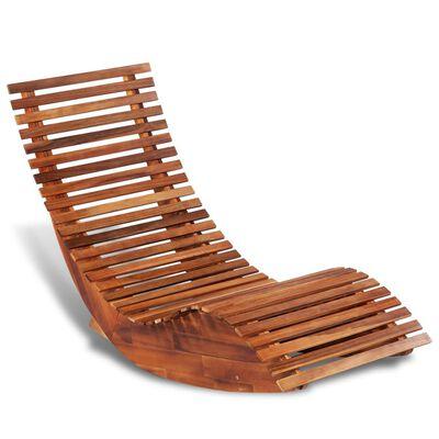vidaXL Supamasis lauko gultas, akacijos mediena