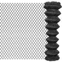 vidaXL Tinklinė tvora, pilka, 25x1,5m, plienas