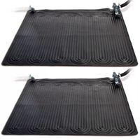 Intex Saulės energija šildomas kilimėlis, 2 vnt., PVC 1,2x1,2 m juodas