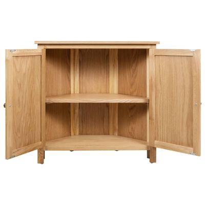 vidaXL Kampinė spintelė, 80x33,5x78cm, ąžuolo medienos masyvas