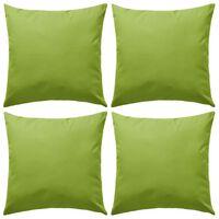 vidaXL Lauko pagalvės, 4 vnt., obuolio žalios spalvos, 45x45 cm