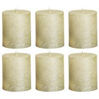 Bolsius Žvakės, 6vnt., dramblio kaulo, 80x60mm, cilindro formos