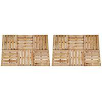 vidaXL Grindų plytelės, 30vnt., rudos spalvos, 50x50cm, mediena