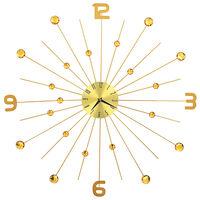 vidaXL Sieninis laikrodis, auksinės spalvos, 70 cm, metalas
