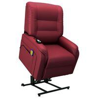 vidaXL Elektrinis atlošiamas TV krėslas, raudonas, dirbtinė oda
