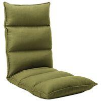vidaXL Sulankstomas čiužinukas-kėdė, žalios spalvos, audinys