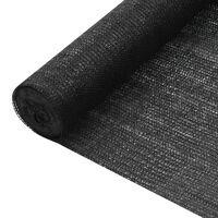 vidaXL Privatumo suteikiantis tinklelis, juodas, 1,8x25m, HDPE