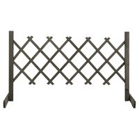 vidaXL Sodo treliažas-tvora, pilkos spalvos, 120x60cm, eglės masyvas