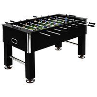 vidaXL Stalo futbolo stalas, juodas, plienas, 60kg, 140x74,5x87,5cm