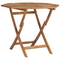 vidaXL Sulankstomas sodo stalas, 85x85x76cm, tikmedžio masyvas