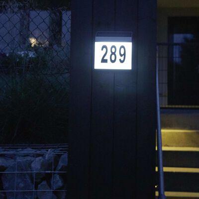 Luxform Šviečiantis namos numeris Cornwall, sien., baltas, LED