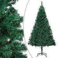 vidaXL Dirbtinė Kalėdų eglutė su storomis šakomis, žalia, 210cm, PVC