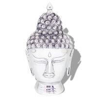 vidaXL Budos galvos dekoracija, aliuminis, sidabro spalvos