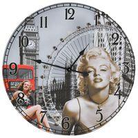 vidaXL Sieninis laikrodis, 60cm, vintažinio dizaino, su Marilyn Monroe