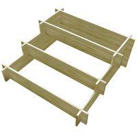 vidaXL Trijų pakopų lovelis, 90x90x35cm, impregnuota mediena