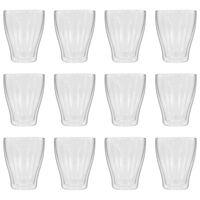 vidaXL Dvigubos sienelės stiklinės Latte Macchiato, 12vnt., 370ml