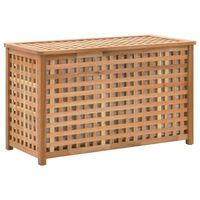 vidaXL Skalbinių dėžė, 77,5x37,5x46,5 cm, riešutmedžio med. mas.