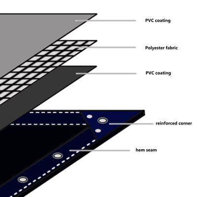 vidaXL Tentas, 650g/m², 4x7m, pilkas