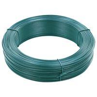 vidaXL Viela tvorai, juodai žalios spalvos, 250m, 0,9/1,4mm, plienas