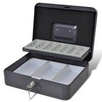 vidaXL Dėžutė pinigams su dėklu monetoms