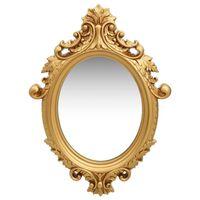 vidaXL Sieninis veidrodis, auksinės spalvos, 56x76cm, rūmų stiliaus