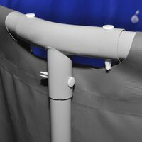 vidaXL Baseinas su plieno rėmu, antracito spalvos, 457x122cm