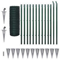 vidaXL Euro tvora, žalia, 25x1,2m, plienas