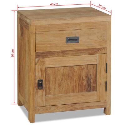 vidaXL Naktinis staliukas, tvirtas tikmedis, 40x30x50cm