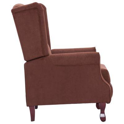 vidaXL Atlošiamas krėslas, rudos sp., audinys