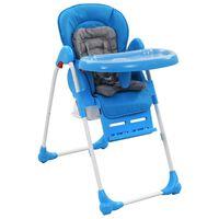 vidaXL Aukšta maitinimo kėdutė, mėlynos ir pilkos spalvos